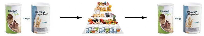 Premium Diet Regular vagy Hepashake - zsírégetési fázis